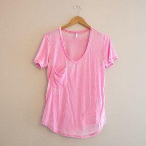Pink Z Supply Pocket T Burnout